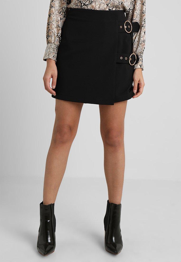 4th & Reckless Petite - COMPASS MIDI SKIRT - Mini skirt - black