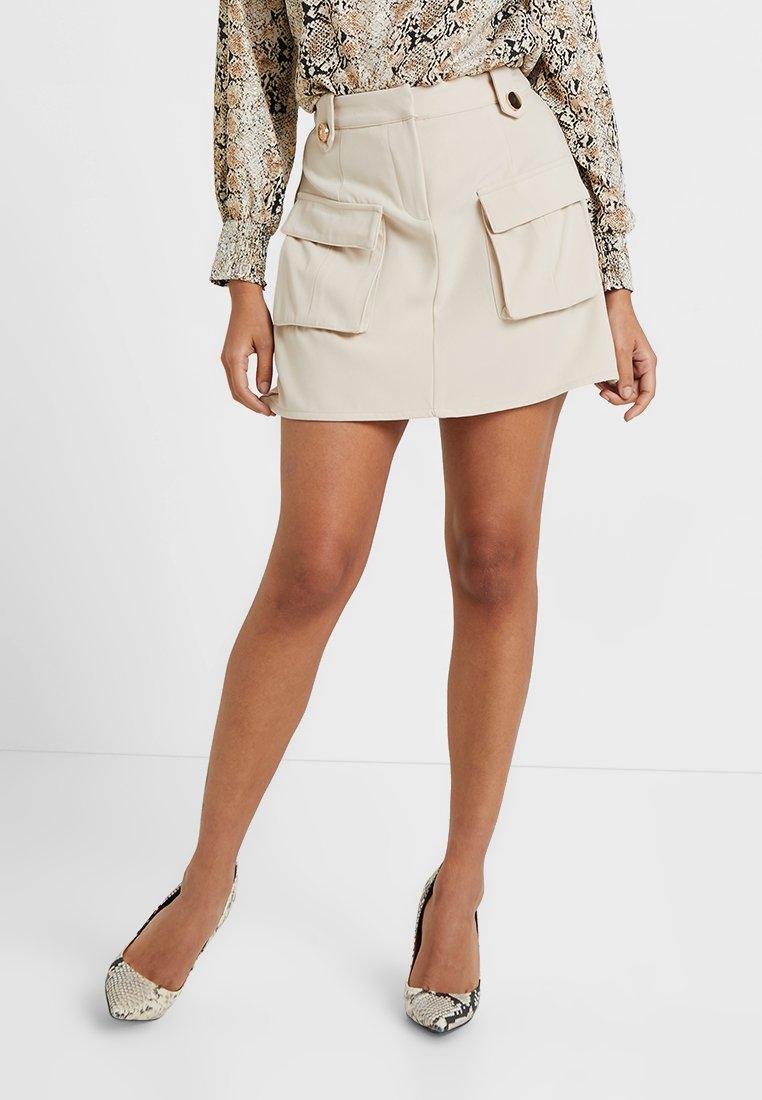 4th & Reckless Petite - TATUM SKIRT - Mini skirt - stone