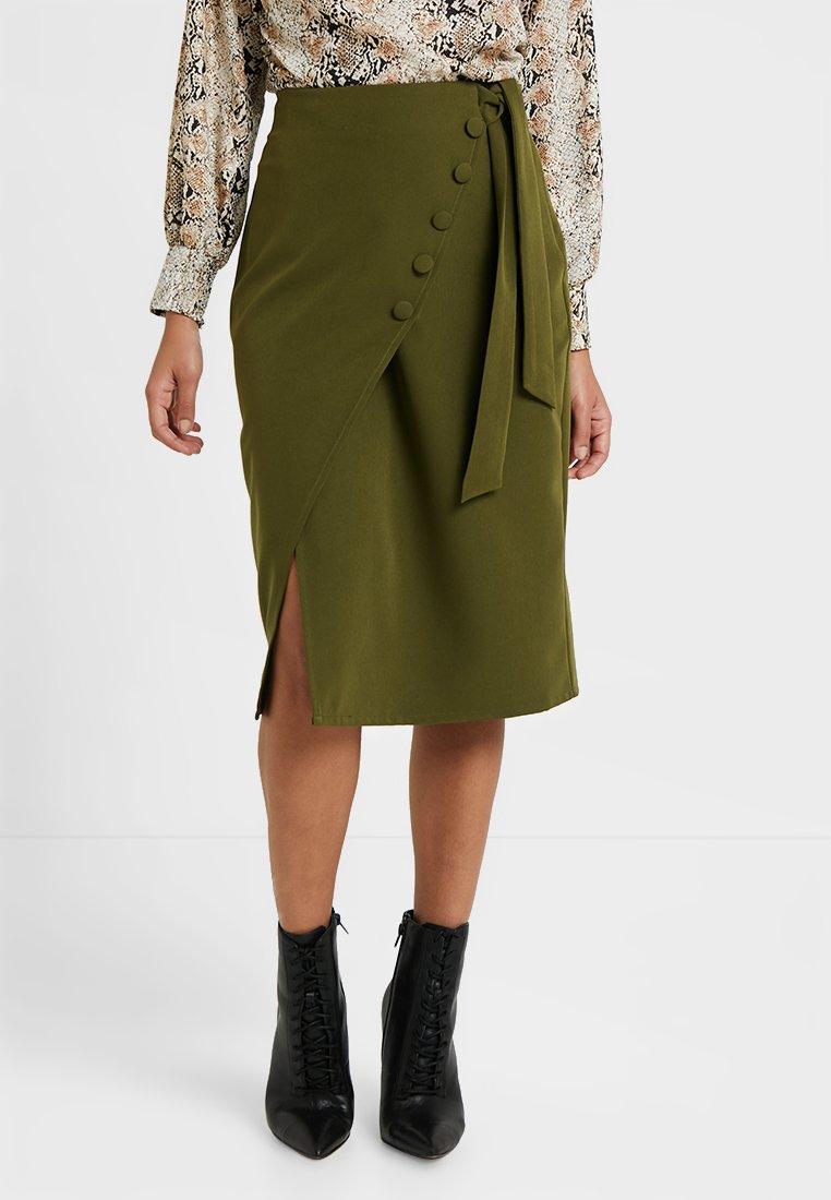 4th & Reckless Petite - EVELYN SKIRT - Pencil skirt - khaki