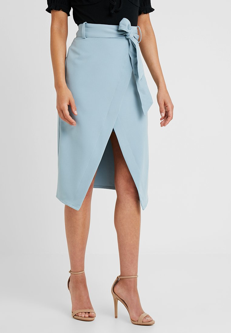 4th & Reckless Petite - GILLY SKIRT - Pencil skirt - light blue