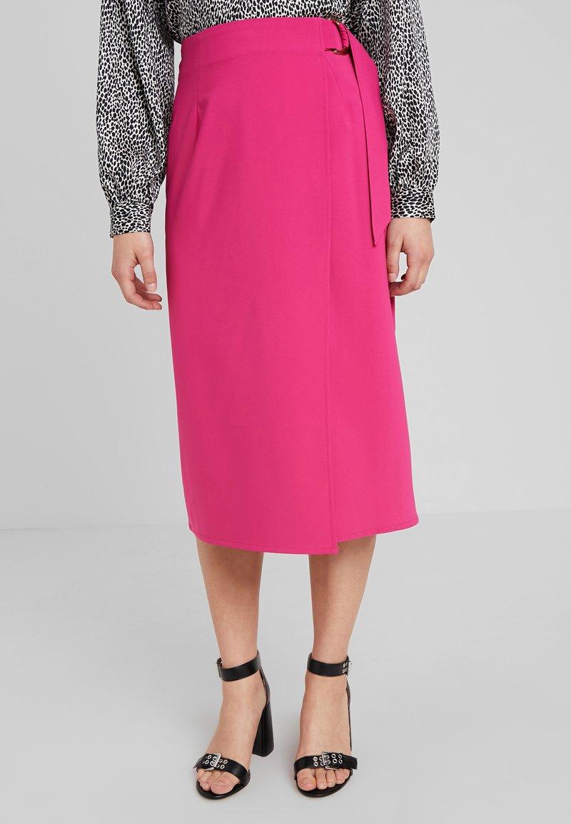 4th & Reckless Petite - CAMEO SKIRT - Wrap skirt - magenta