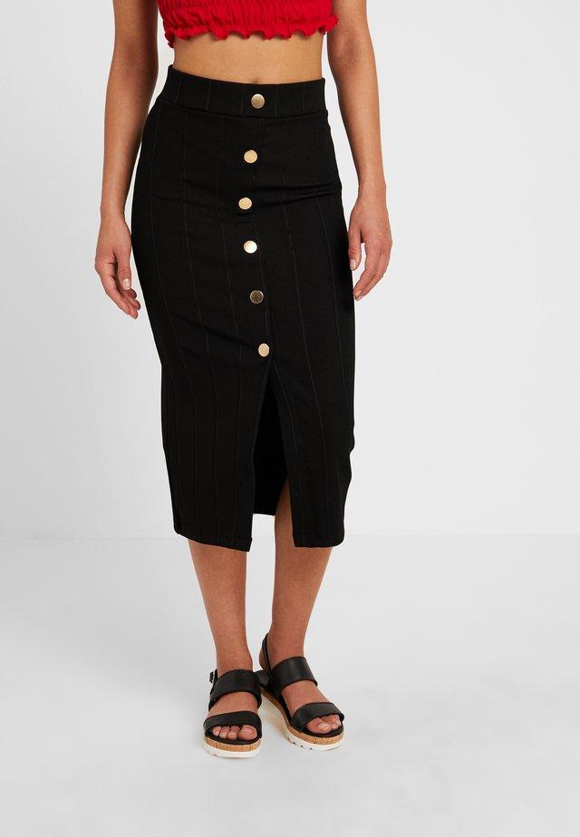 STELLA - Pencil skirt - black