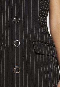 4th & Reckless Petite - MINI DRESS - Abito a camicia - black - 5