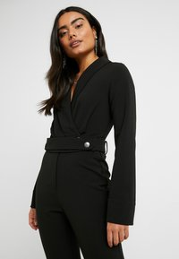 4th & Reckless Petite - SANDRA COLLARED WITH BUCKLE DETAIL - Combinaison - black - 3