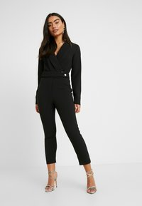 4th & Reckless Petite - SANDRA COLLARED WITH BUCKLE DETAIL - Combinaison - black - 0
