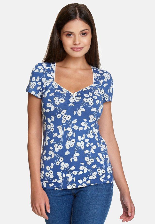 FLEUR D'AVIGNON - Print T-shirt - blau