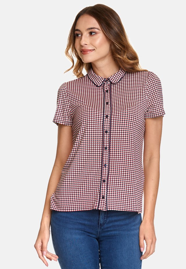 Button-down blouse - rot allover-print