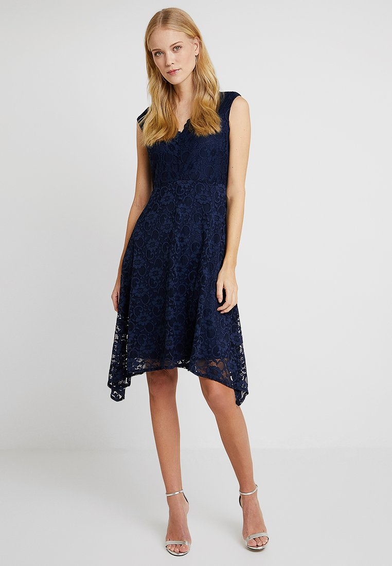 Wallis - HANKY DRESS - Cocktailkleid/festliches Kleid - dark blue