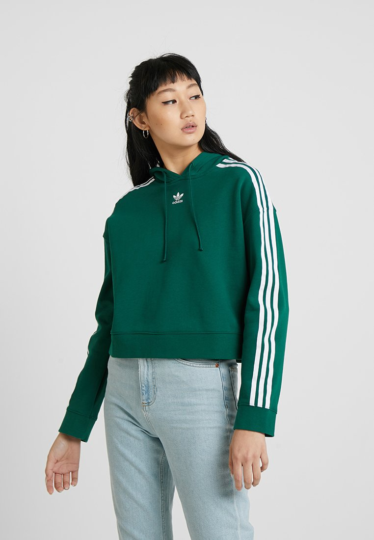 adidas Originals - CROPPED HOODIE - Huppari - collegiate green