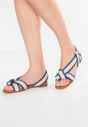 Sandaler - bicolor/azul