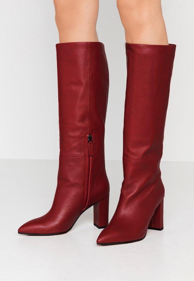 Højhælede støvler - burgundy