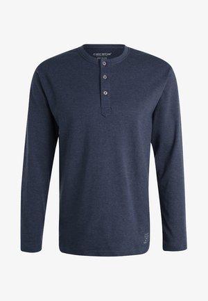 Pyjamasöverdel - blau dunkel melange