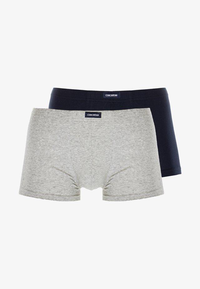PANTS 2 PACK - Pants - light grey melange