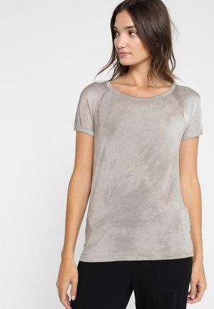 T-shirt med print - beige cloud