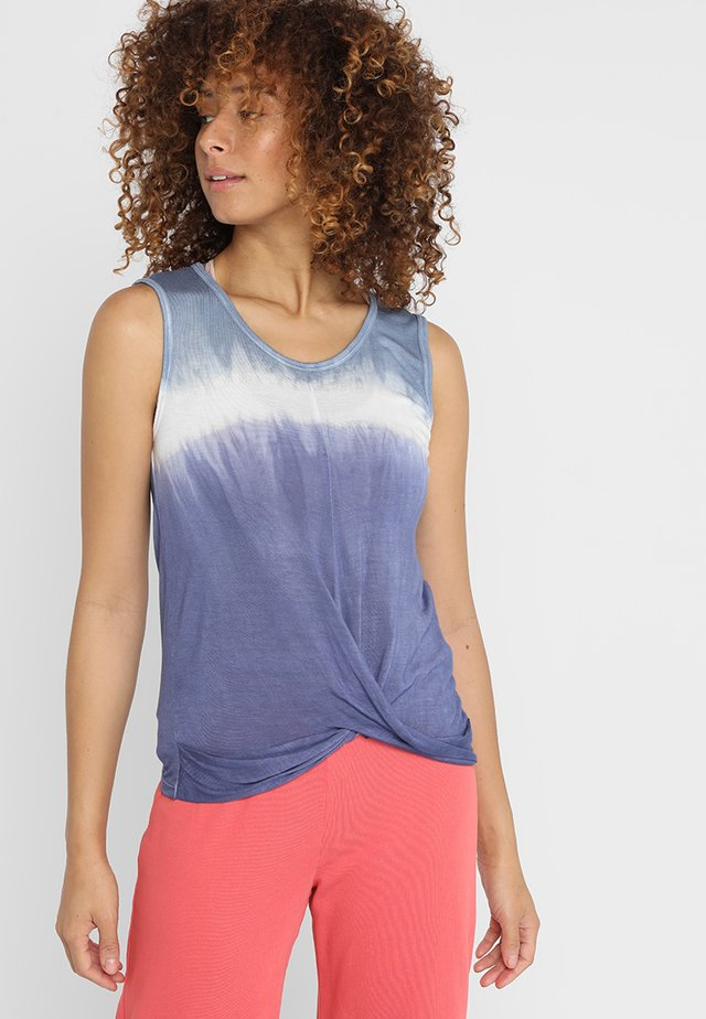 YOGA CROP - Top - true blu