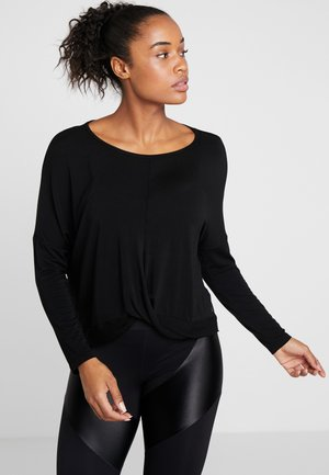 MANICA LUNGA - Long sleeved top - black