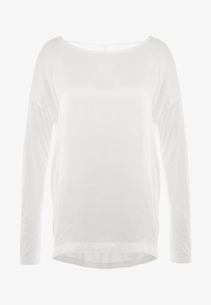 MANICA LUNGA - Long sleeved top - white