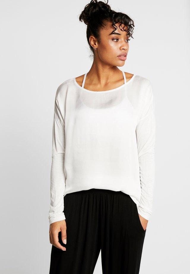 MANICA LUNGA - Bluzka z długim rękawem - white
