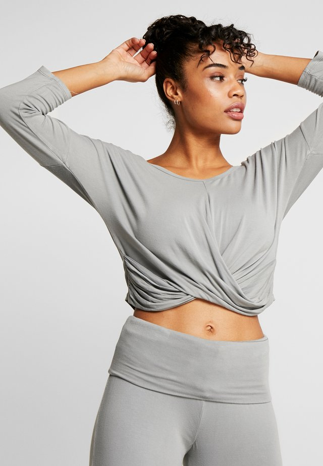 SCOLLO BARCH - Long sleeved top - grigio