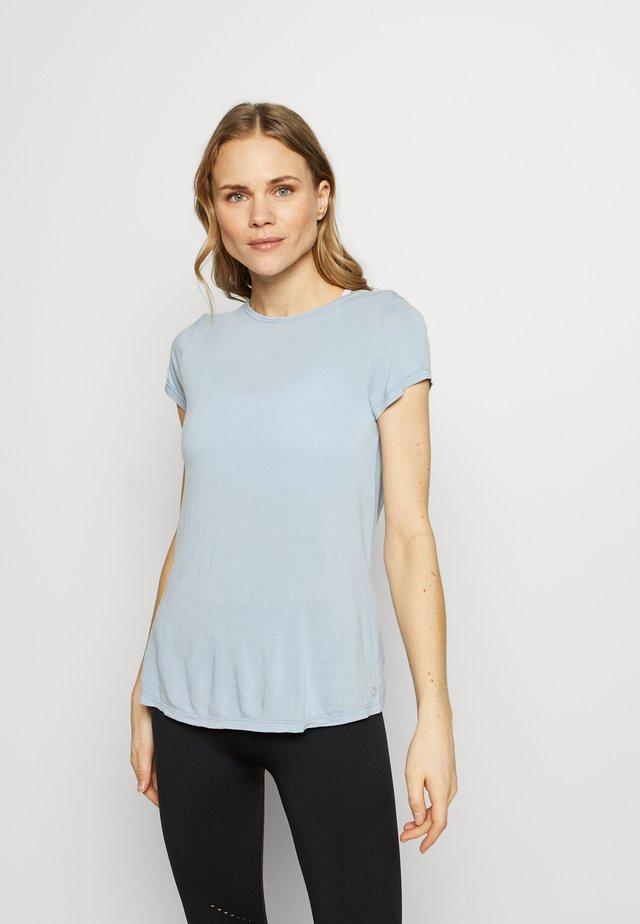 Print T-shirt - celeste