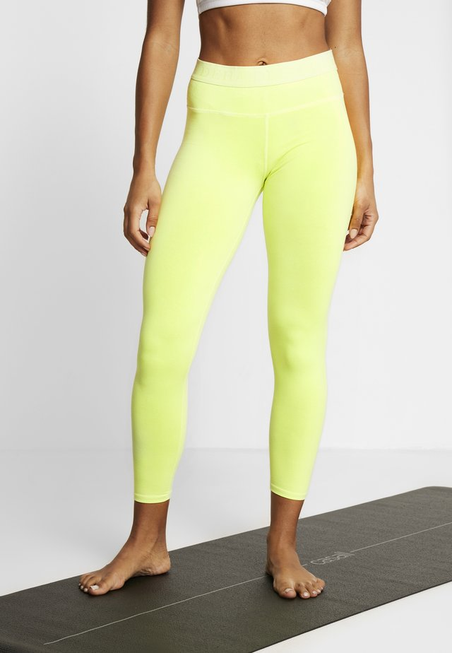 Legginsy - fluo yellow