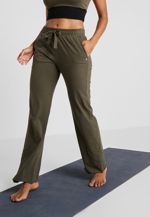 PANTALONE LARGO - Joggebukse - dusty green