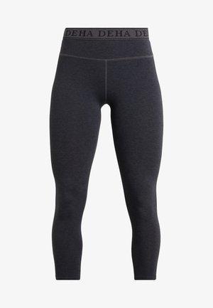 LEGGINGS  - 3/4 sports trousers - mottled light grey