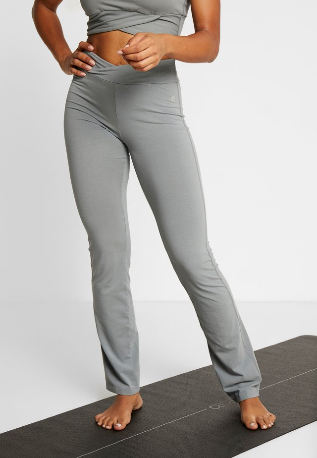 PANTALONE ADERENTE - Spodnie treningowe - grigio