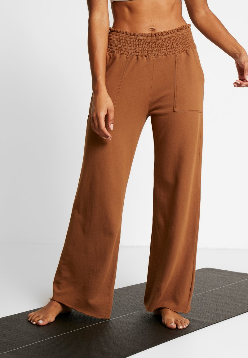 Deha - PANTALONE LARGO - Teplákové kalhoty - cocoa