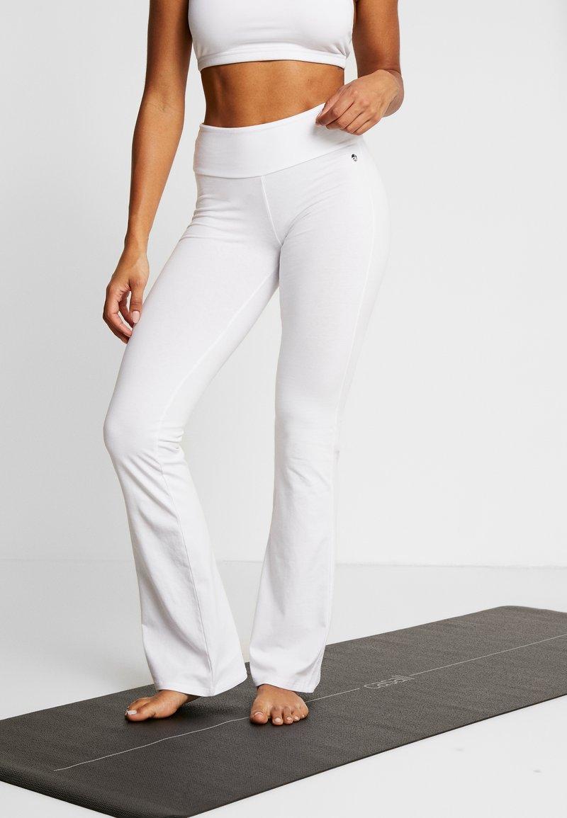 Deha - PANTA JAZZ - Teplákové kalhoty - white