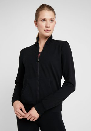 FELPA CON ZIP - Veste de survêtement - black