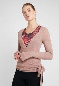 Deha - WRAP  - Stickad tröja - cameo rose - 0