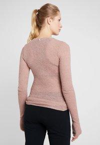 Deha - WRAP  - Stickad tröja - cameo rose - 2