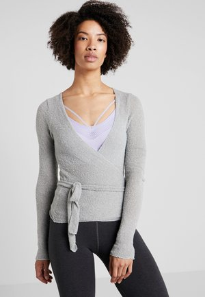 WRAP  - Sweter - pearl gray