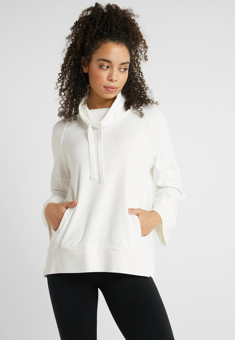 Deha - FELPA COLLO ALTO - Langærmede T-shirts - white
