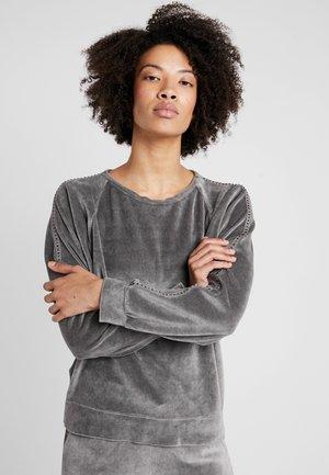 FELPA GIROCOLLO - Sweatshirt - elephant gray