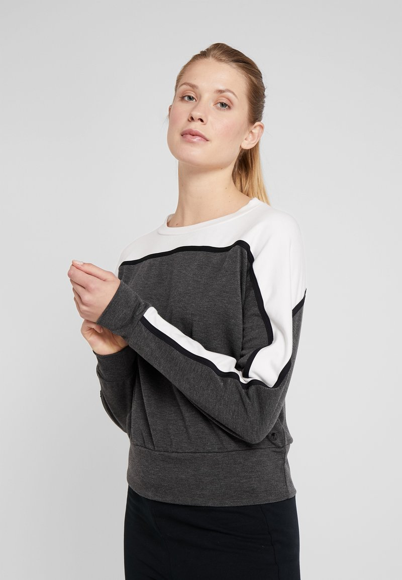 Deha - FELPA GIROCOLLO - Sweatshirts - grey melange scuro