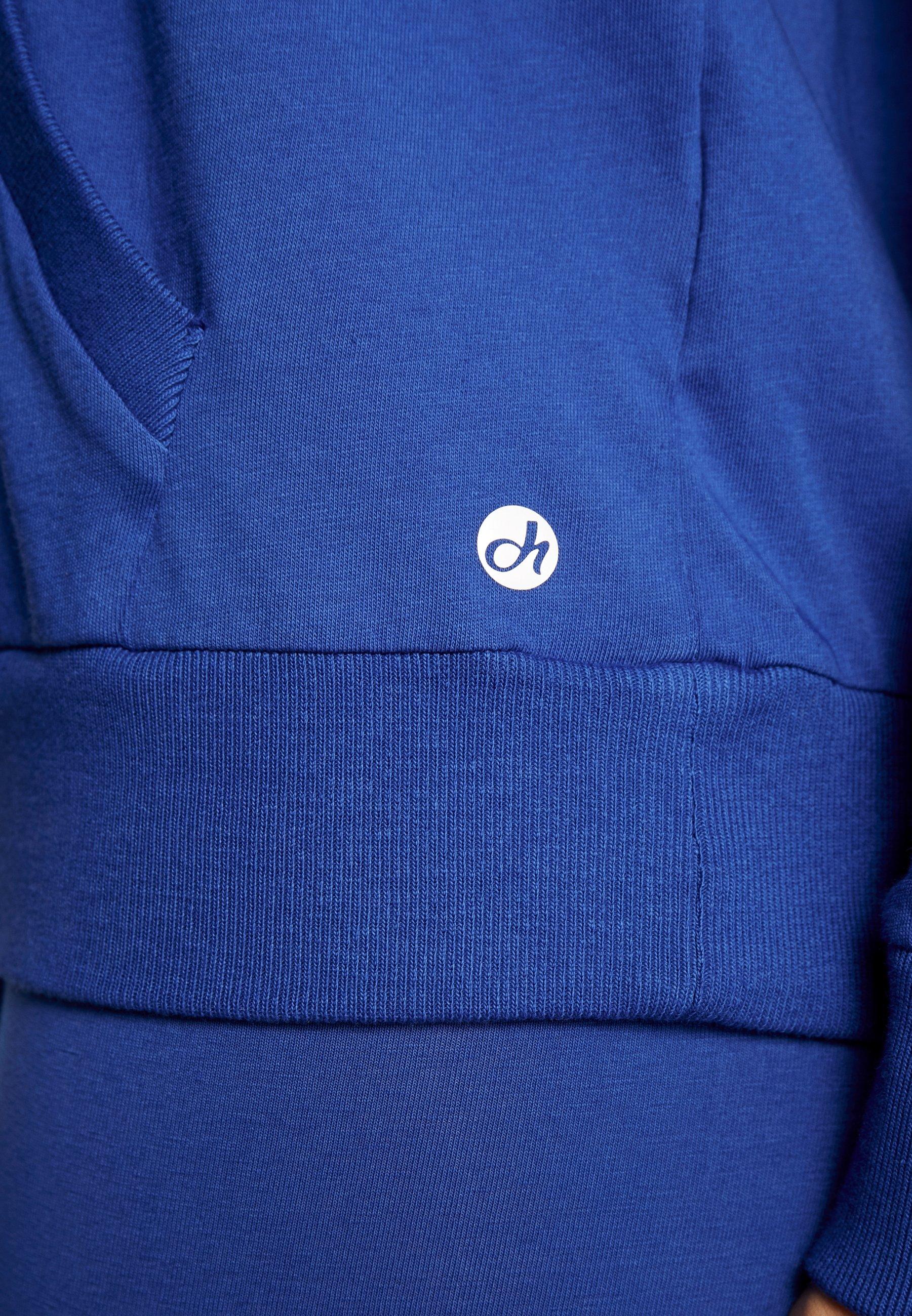 Deha FELPA CON CAPPUCCIO - Bluza z kapturem - bluette