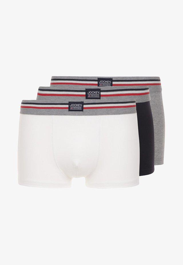 COTTON STRETCH TRUNK 3 PACK - Pants - black/white/grey
