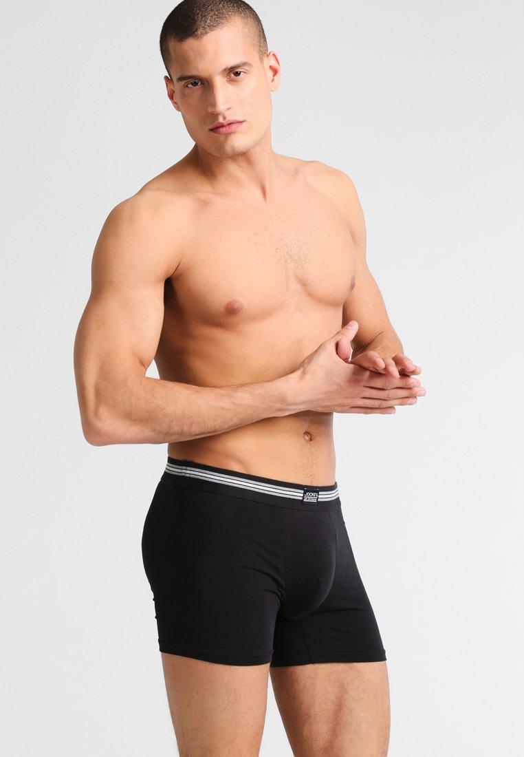 Jockey - COTTON STRETCH LONG LEG TRUNK 3 PACK - Shorty - black
