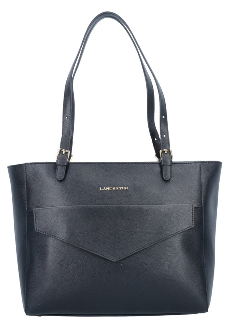 LANCASTER - SAFFIANO SIGNATURE  - Shopping Bag - noir