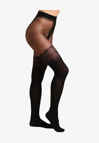 Pretty Polly - FLIRTY MOCK HOLD UP - Sukkahousut - black - 2