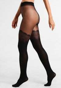 Pretty Polly - FLIRTY MOCK HOLD UP - Sukkahousut - black - 0