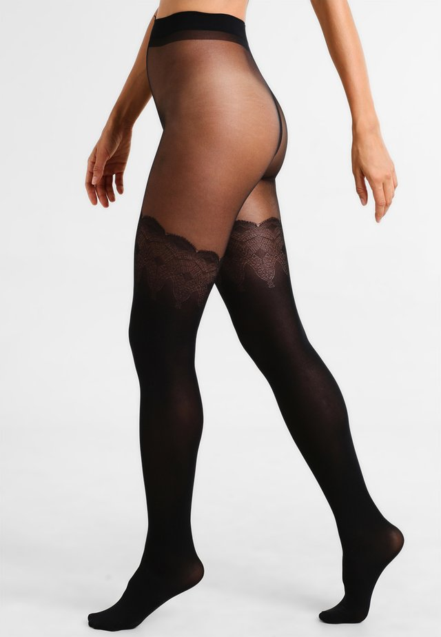 FLIRTY MOCK HOLD UP - Strumpfhose - black
