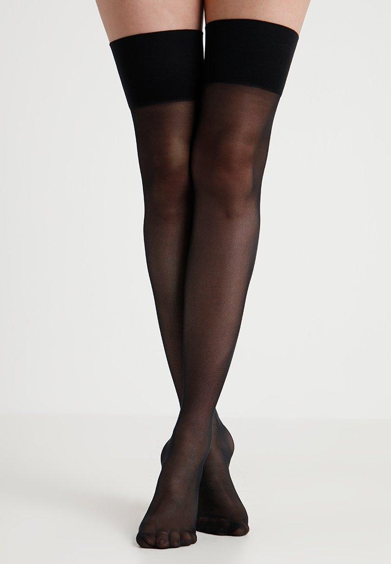 Pretty Polly - DAY TO NIGHT SHEER STOCKINGS 2 PACK - Overkneestrumpor - black