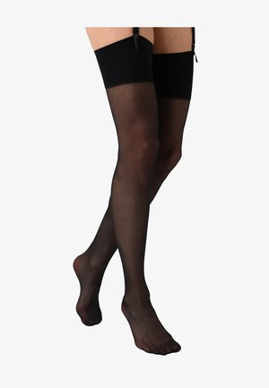 DAY TO NIGHT SHEER STOCKINGS 2 PACK - Overknæstrømper - black