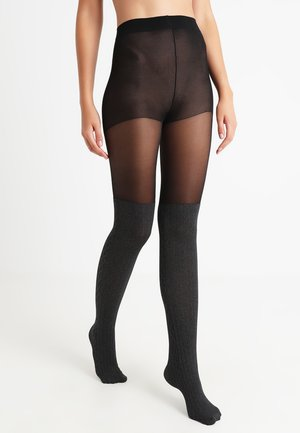 CABLE SOCK TIGHT - Tights - grey marl