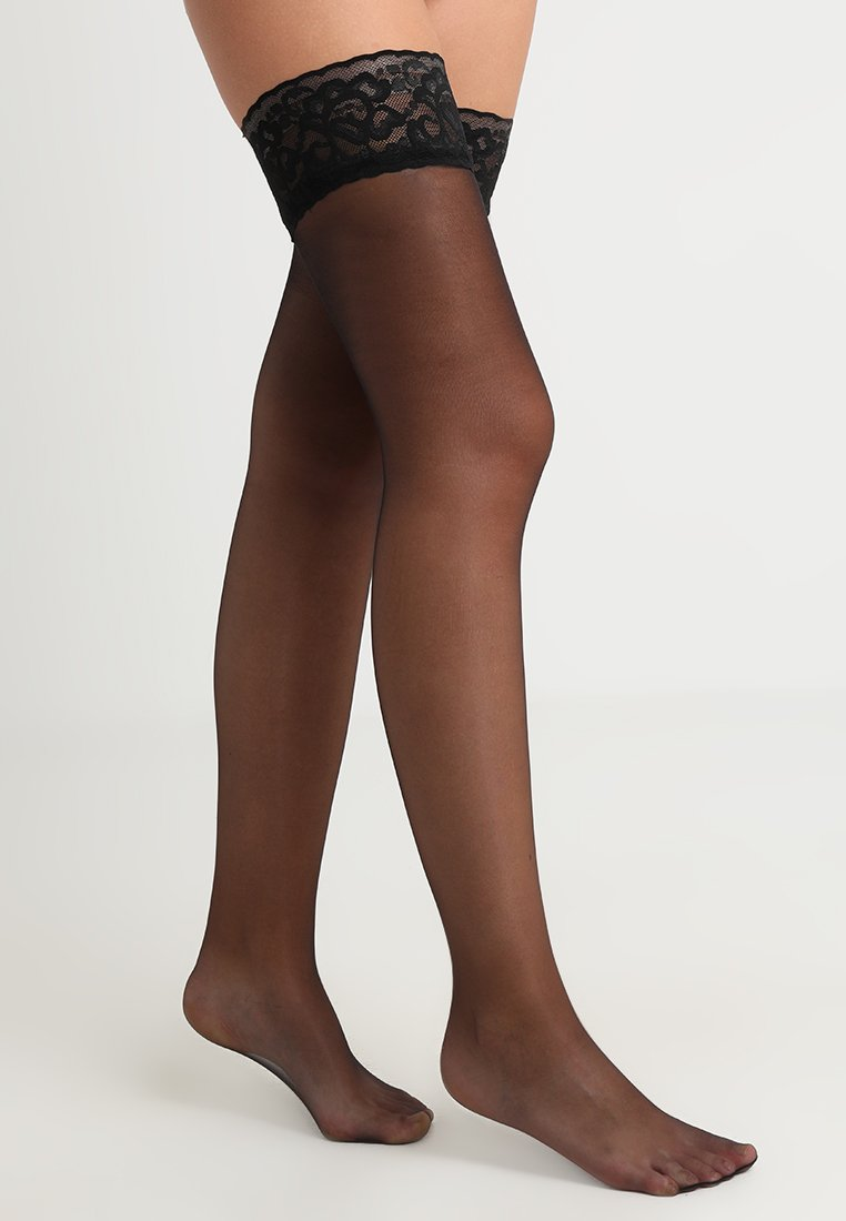 Pretty Polly - TOP HOLD UP - Over-the-knee socks - black