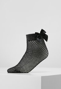Pretty Polly - FISHNET ANKLET WITH BOW - Socken - black - 0