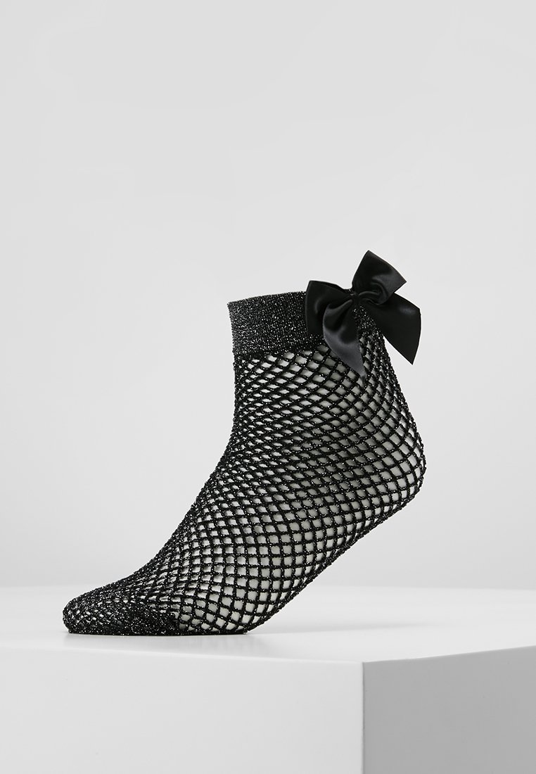 Pretty Polly - FISHNET ANKLET WITH BOW - Socken - black